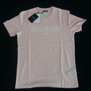 Balmain Pink Short Sleeve T-Shirt
